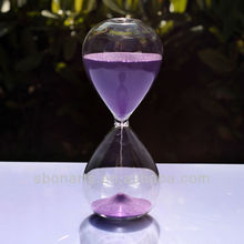 clear beautiful hourglass glass sand timer