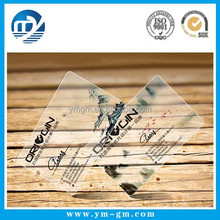 Eco-friendly Clear Plastic Business Card Cheap