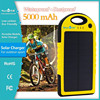 Outdoor sports 5000mAh 1.2w solar charger with Environmentally material for headset for Mobile phone and for GPS
