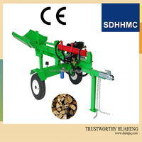 Hot Selling Automatic 10Ton Hydraulic Electric Wood Log Splitter With Log Tray,B&S Engine