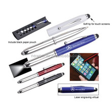 High quality metal ball pens with stylus and laser light functions pharmaceutical promotional gift items