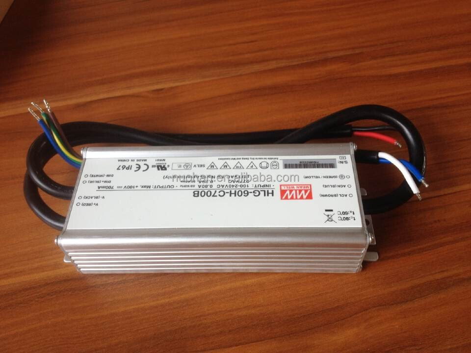 Mean well 60W 700ma led driver/700mA LED Power Supply 60W/dimming led driver 60w/60w led driver with PFC function