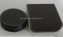 Branded hot sale leather coated cup mats