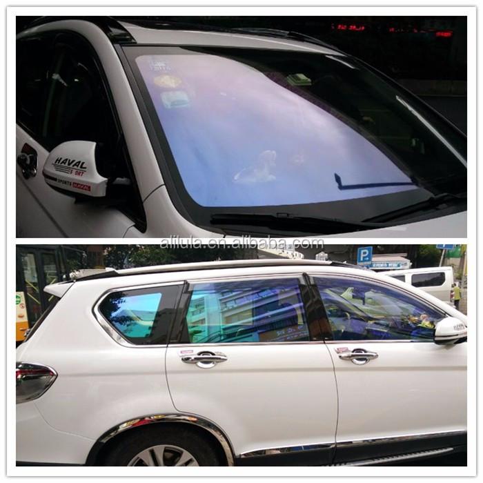 car window purple color film