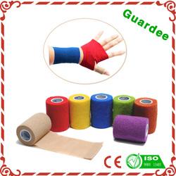 china supplier Sports Tape cohesive bandge athletic elastic adhesive CE FDA