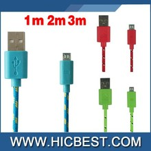 bulk buy from china fabric nylon braided usb mobile charger cable for mobile phone