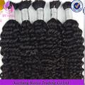 2014 nueva llegada de mejor calidad por ciento 100 afro rizado virgen remy cabello humano a granel