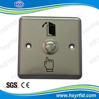 HSY K4 stainless steel 12V exit waterproof button push switch for access control
