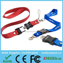lanyard neck strap usb flash drives,china wholesale new product,usb 2.0/3.0 with free sample and custom logo
