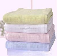 wholesale Bamboo organic cotton baby cellular blanket