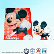 PE shopping or gift warpping die cut plastic handle bag/poly bags for garment/hdpe and ldpe die cut plastic bag