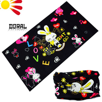 Cute rabbit and heart baby bandana bibs multifunctional outdoor sports cooling bandana