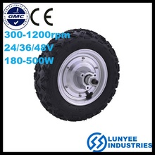 24V 500W powered electric wheel hub motor