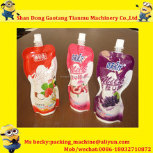 tianmu juice berry blend spouted bag filling screw cap packing machine