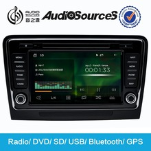 "2015 Audiosources 8"" HD 1080P wince6.0 WITH 3G GPS DVD PLAYER for skoda"