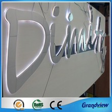 new design indoor office stainless steel led word sign