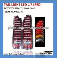 #000733 hiace tail light LED L/R (RED) for new model for hiace commuter,hiace van(2010-2013)