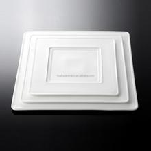 Chaozhou 2015 New Design Unique White Square Porceain dinner platter, dinner flat plate for Hotel & Restaurant
