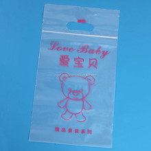 Food grade safety printed ziplock plastic bags with hang hole