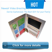 Hot products 4.3 inch LCD video brochure, 4.3 inch video book supplier, video upload by customer