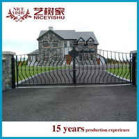 Metal gate ,forged iron metal gates ,galvanized metal gates design and wrought iron component for picket fence and gate