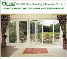 indoor folding door/folding sliding door/aluminum glass folding door