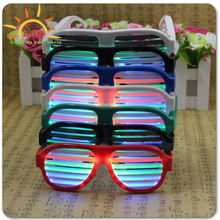 2015 Most favorable party decor Led Sound Activated eyewear with factory price rechargable