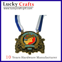 Custom Silver Metal Zinc Alloy Souvenir Medal with Cheap Price
