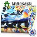 Mulinsen textil tejido de viscosa 30s personalizados diseño de la frontera roll impreso tela rayón 100%