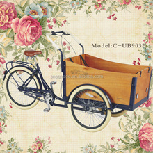 Take baby 3 wheels drive bicycle 7 speeds fashion family cargo bike/the bicycle/cargo tricycle/cargobikes UB9032