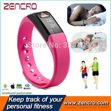 fitness pedometer wristband, podometre track led active vibration body