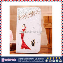 Durable Cheapest leather mobile phone case for samsung s5