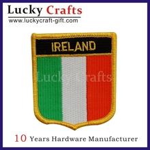 Seguridad bordado insignia parche / parche bandera personalizada promoción