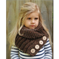 2015 winter baby Ruston Cowl scarf knitting patterns with button