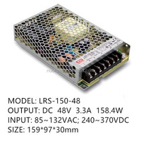 Mean Well LRS-150-48 Single Output Switching Power Supply 48V 3.3A 150W