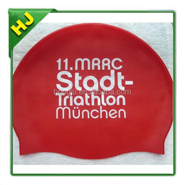 2015 new style printed silicone swim caps