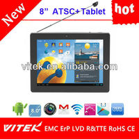 """Hot 8"""" Android wifi Dual core 3g gps camera tv tablet pc"""
