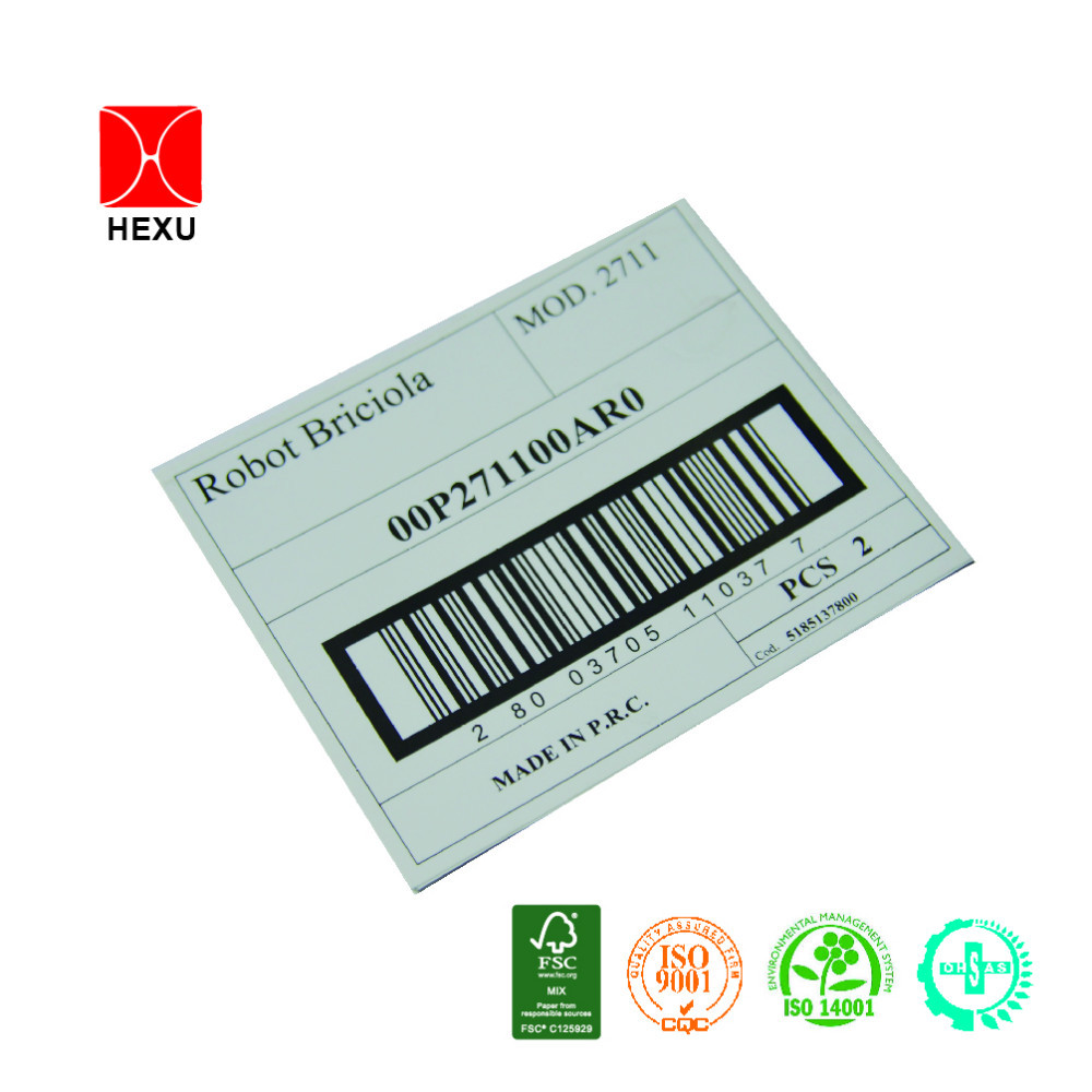 High quality food barcode label polypropylene sticker for Food barcode