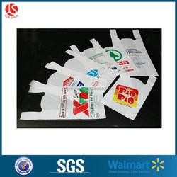 wholesale custom printed hdpe t-shirt shopping bag plastic bag manufacturers in China