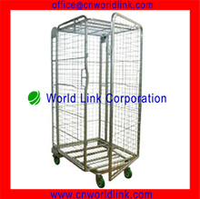 wire Foldable rolling cage with wheels