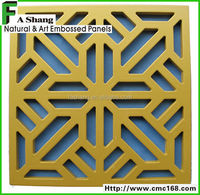 Embossed MDF Grille Board for interior decoration