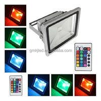 RGB LED Flood Light 10W 20W 30W 50W Flood LED Exterior Spotlight IP65 LED Outdoor Light Reflector Spot Floodlight Remote Control
