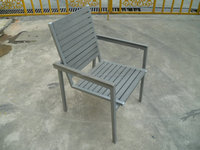 High quality stacking polywood chair garden plastic wood dining chair aluminum chair