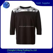Custom 3/4 Sleeves Mens Wholesale High Quality Eco-friendly T-shirt