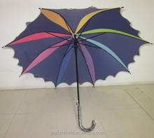 Straight rain umbrella handle stick plastic straight umbrella