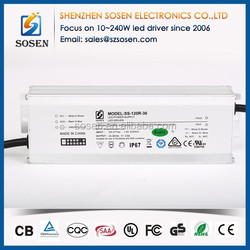 Waterproof IP67 3.6A LED driver constant current with CE certification