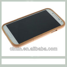 2013 Best selling cell phone bamboo wood back cover case for galaxy s4/samsung s4