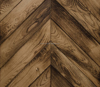 Solid Oak Parquet Wood Flooring Distressed Chevron Flooring