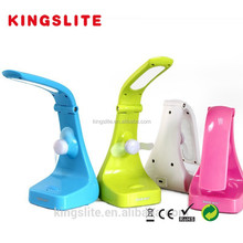 Rechargeable Fold LED Table Lamp & reading lamp with fan KB5562FN