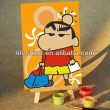 handmade diy painting by numbers on canvas